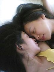 Two hot Chinese girls who are into licking cunts