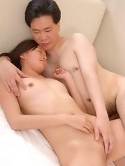 Pretty Chinese gf fucked by ugly dude